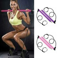 Portable Pilates Bar Kit Widerstand Band verstellbarer Trainingsstock Toning Gym