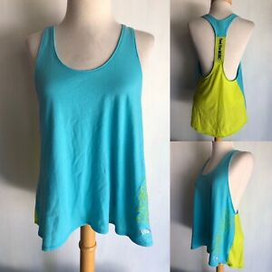 """ZUMBA Official Women's """"Feel The Music"""" Racerback Tank Top T-Shirt Size Large"""