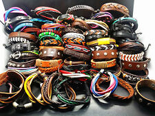 wholesale assorted 100PCs Hand Made Leather Cuff Ethnic Tribes fashion Bracelets