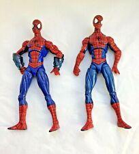 "2 Vintage Marvel Legends 2009 Spiderman 6"" Action Figure Amazing Action Figure"