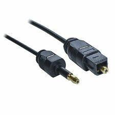DIGITAL GOLD MINI TOSLINK 3.5MM TO TOSLINK OPTICAL CABLE LEAD 1M SPDIF AUDIO