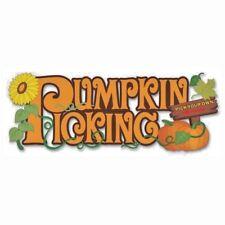Pumpkin Picking Title Halloween Autumn Jolee's 3D Sticker