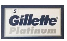 100 Gillette Platinum Double Edge Razor Blades Made in Russia