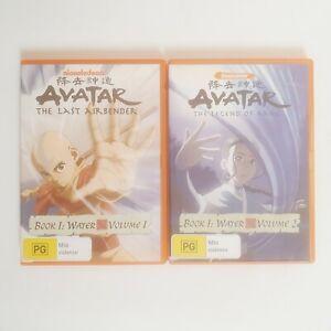 Avatar the Last Air Bender Book 1 Water Volume 1 & 2 TV Series DVD Region 4 AUS