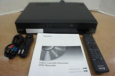 ‡ NEW DEMO! ‡ Sony RDR-VX535 VHS VCR Combo DVD Recorder 1080p HDMI Remote Cables