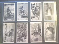 1956 Castrol FAMOUS RIDERS bikes motorcycles  Trade card set 50 like tobacco