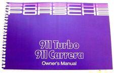 1988 Porsche 911 Carrera Owners Manual Parts Service 911 Turbo reprint