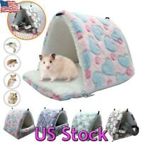 US Hamster Cotton Pet Nest Sugar Glider Sleeping Bag Hedgehog Hanging Cage Warm