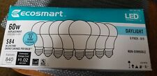 Ecosmart LED Soft White daylight 60W non-dimmable A19 (Pack of 8) 1001 561 229