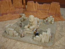 CUSTOM TERRAIN WARGAMING  PAINTED D&D MINIATURES  EGYPTIAN RUIN KING SIZE