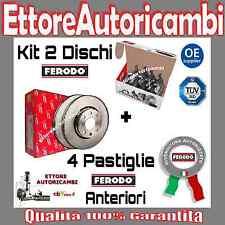 KIT DISCHI + PASTIGLIE FERODO ANTERIORI FIAT PANDA (141) FINO AL 2002 NUOVI