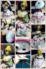 Vintage Lefton Colonial  LADY Fine China Porcelain Figurine Circa 40's KW7677