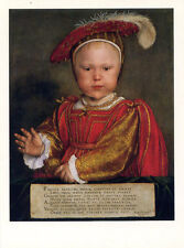 Edward VI as a Child 1538•Painting by Hans Holbein The Younger•Art POSTCARD