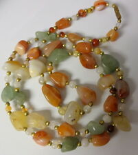 Old African Agates Trade Stones Beads Collectible Necklace