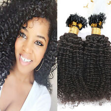 Micro Loop Ring Beads Hair Extensions Curly Brazilian Virgin Human Hair Braids