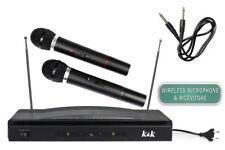 Coppia di microfoni wireless con centralina senza fili per karaoke 2 microfono