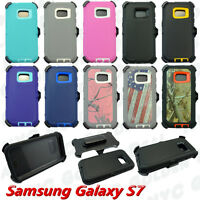 For Samsung Galaxy (S7) Case w// Screen Protector (Clip Fits Otterbox Defender)