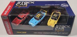 Auto World 1969 Dodge Charger Daytona Slot Car Set - 1 of 500 - AW Exclusive
