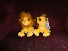 LOT OF 2 2002 DISNEY THE LION KING YOUNG SIMBA & MANE BEANBAG PLUSH DOLL FIGURE