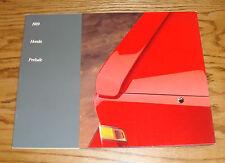 Original 1989 Honda Prelude Sales Brochure 89 Si S