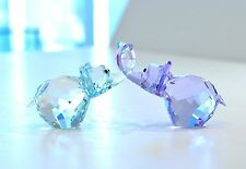 Swarovski Lovlots Paul & Paula Blue Purple Elephant 5136526 Brand New In Box