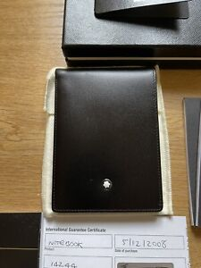 New Rare Mont Blanc 14244 Pocket Leather Notebook