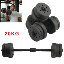 DTX Fitness 20Kg Dumbells Pair of Weights Barbell/Dumbbell Body Building Set