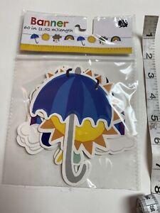5 Ft. Weather banner for Classrooms Sun umbrella rain cloud rainbow
