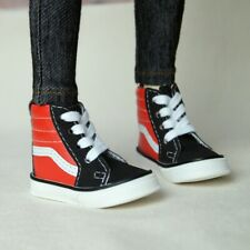 """Black&Red Sneakers Synthetic Leather Shoes For 1/4 17"""" BJD MSD AOD AS DOLL G&D"""