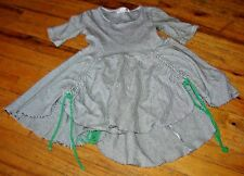 LITTLE MOUSE BROWN LITTLE GIRLS SIZE 6 GORGEOUS STRIPED TWIRLY HI-LO DRESS