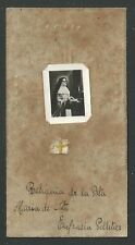 Holy card relics antique de la Beata Eufracia reliquia santino image pieuse