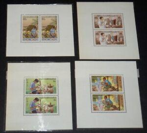 Laos Stamps #283-286 MNH Miniature Sheets 1977 (Scott Footnote) cv$52
