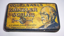 Vogelsang Tabak Bremen Blechdose Hindenburg Kanzler Schäg um 1910/20 !