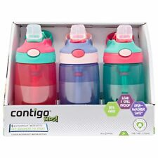 G 3x Contigo Kids Autospout Leak & Spill Proof Water Bottle 414ml BPA Free