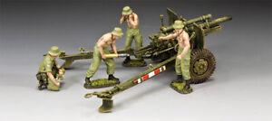 KING & COUNTRY VIETNAM WAR VN076 AUSTRALIAN 105MM GUN & CREW SET MIB