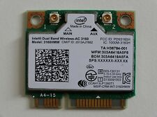 Intel de doble banda BT 802.11AC Mini PCIe tarjeta inalámbrica WLAN Wifi 3160HMW-W019