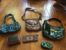 lot of 3 purses and 3 wallets, vera wang, rosetti,green coin purse