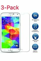 3 Pack Premium Tempered Glass Screen Protector Film for Samsung Galaxy S5