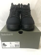 TIMBERLAND MEN'S EURO HIKER MID HIKER BLACK KNIT SIZE 12 MADE W/CORDURA FABRIC
