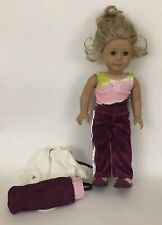 American Girl Warm Up Purple Outfit Gym Mat Bag Clothing Shoes NO DOLL Today