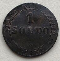 Vatican Italy 1867 1 Soldo/5 Cent Coin Pius IX
