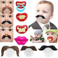 10PCS Funny Dummy Dummies Pacifier Novelty Teeth Moustache Baby Child Nipples B0