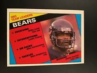 1984 Topps #221 WALTER PAYTON Team Leaders Chicago Bears SET BREAK MINT LOOK