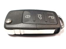 Replacement 3 button flip key case for VW Golf MK5 2004/05 - 2008/9 remote