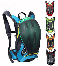 Cycling Running Water Pack Bag Hydration Backpack Rucksack with Helmet Holder15L