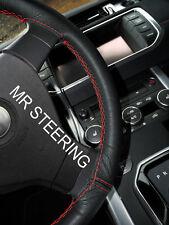 Para Mercedes CLS W219 04-10 Cubierta del Volante Cuero Verdadero rojo doble puntada