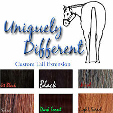 Custom Made 3/4 Pound Horse Tail Extension! Black, Sorrel and Chestnut