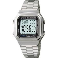 Casio Men's Alarm Chronograph Stainless Steel Multi-function Watch A178WA-1ADF