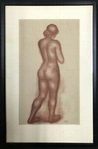 ARISTIDE MAILLOL Lithograph ~ NUDE IN SANGUINE 1935 ~ Ovid ART OF LOVE