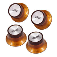 Replacement 2 Volume 2 Tone Control Button Knob for Fender ST SQ Guitar Accs